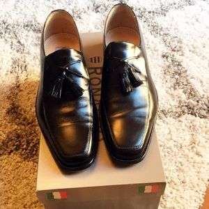 Ronaldo Custom Italian Leather Shoes Black 8M